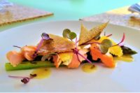 Smoked trout asparagus